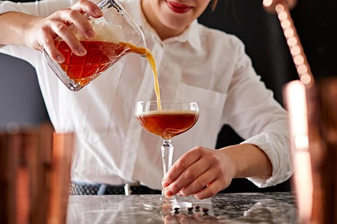 This cocktail has delicious orange undertones