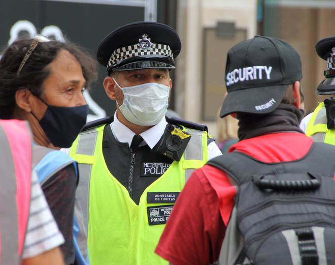 Police officers don't have to wear face masks