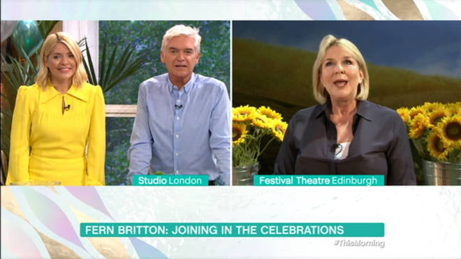 Holly and Phil interviewed Fern on This Morning about the 30th anniversary of the show