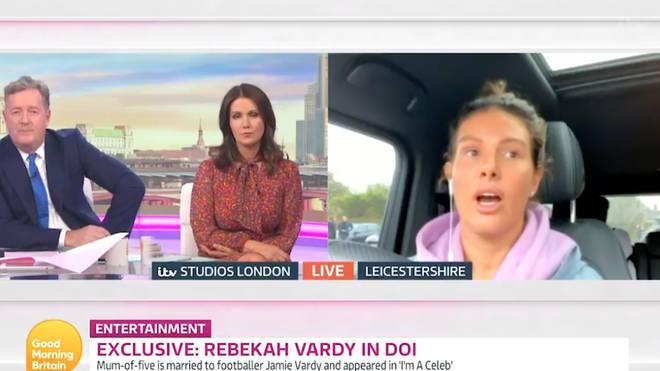Rebekah Vardy appeared on Good Morning Britain