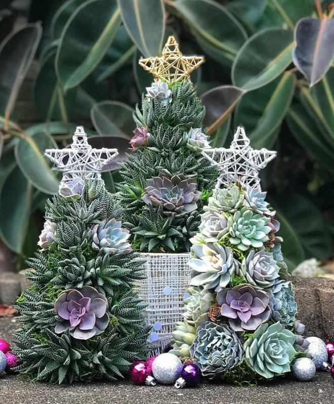 The Christmas trees are 13inches tall and made to order