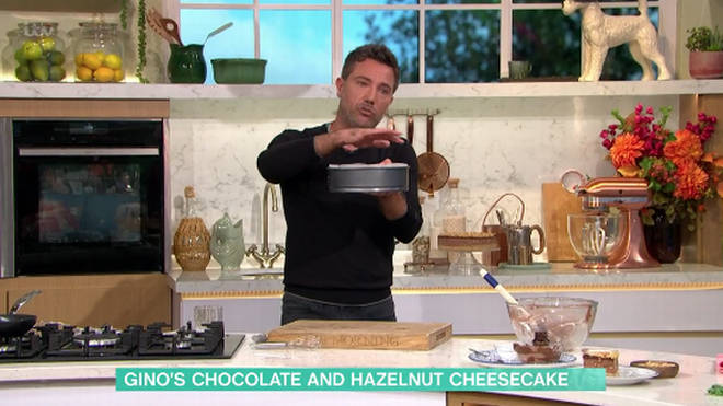 Gino D'ACampo made a chocolate cheese cake on This Morning