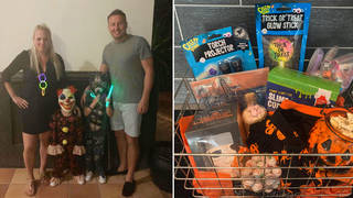 Mum of two Hayley Chisholm created Halloween baskets