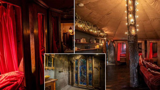 The room is based on the dorm that Harry and Ron slept in in Harry Potter