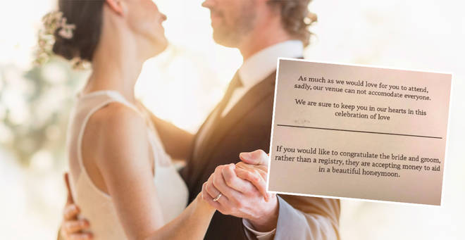 The bride and groom have been branded 'tacky' (stock image)