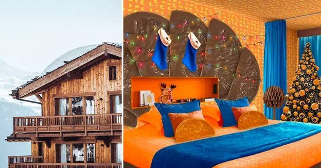 You can stay in a chocolate orange themed room this Christmas