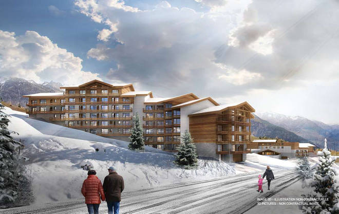 La Rosière resort is in the French Alps