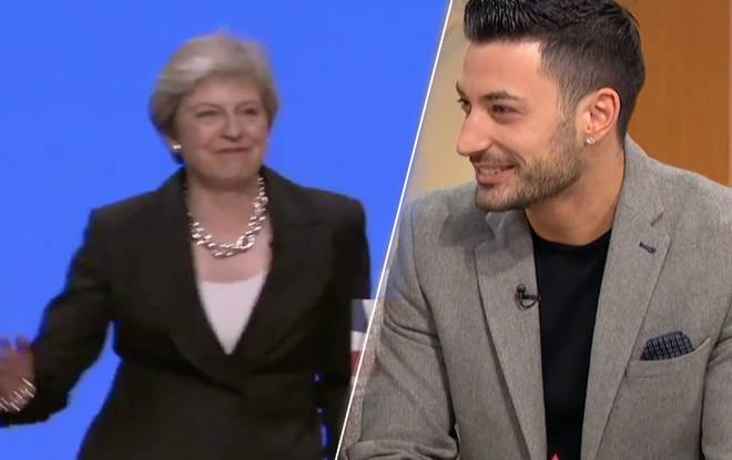 Giovanni Pernice and Theresa May
