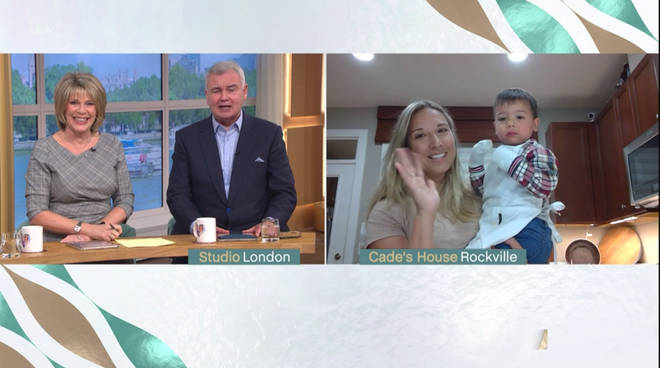 Ruth and Eamonn were in hysterics at the hilarious moment