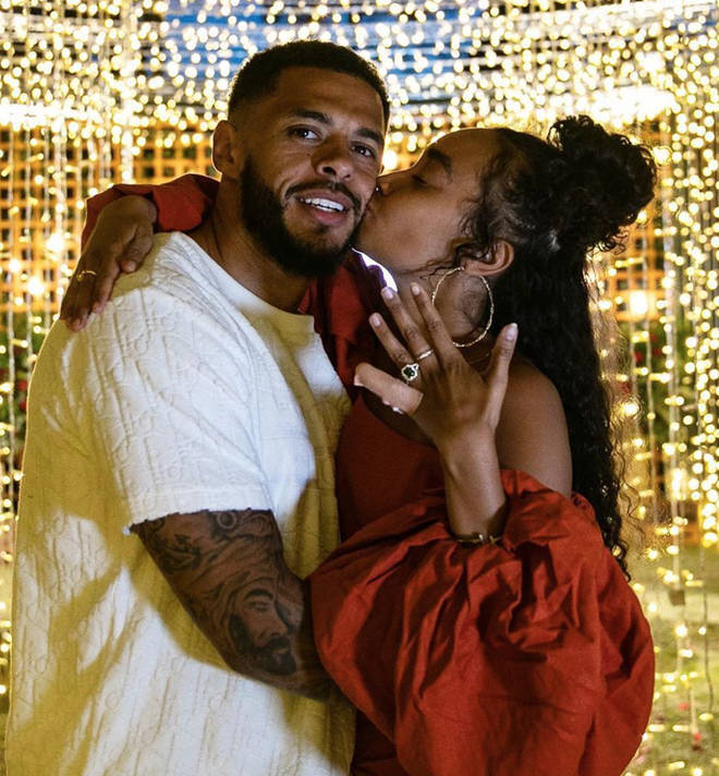 Leigh-Anne Pinnock and Andre Gray got engaged earlier this year