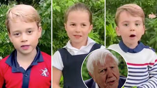 Prince George, Princess Charlotte and Prince Louis' voices heard for the first time in  video with Sir David Attenborough