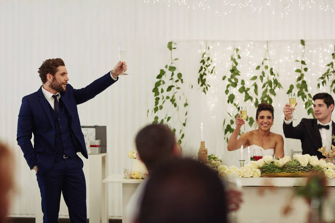 The groom identified the men his wife had slept with during his speech (stock image))