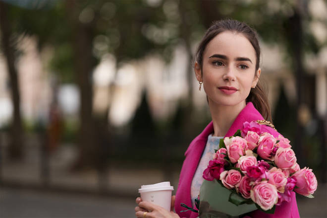 Lily Collins stars in Emily in Paris on Netflix