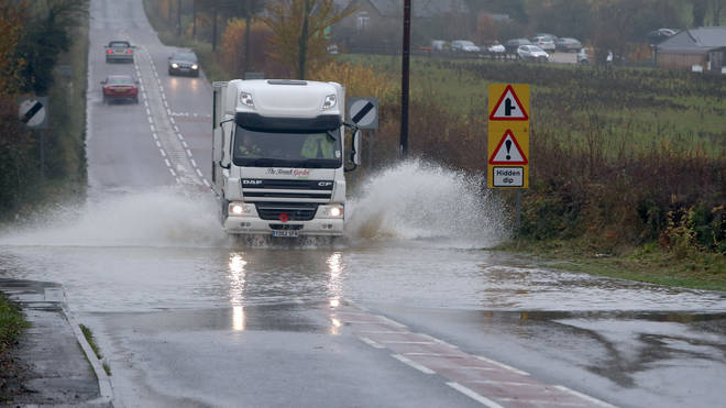 Travel disruption could be caused by heavy rain