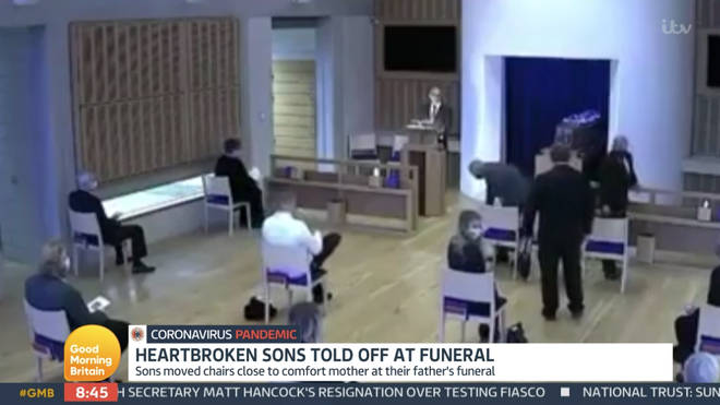 The brothers moved across after their mum broke down at their father's funeral