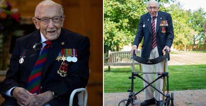 Captain Tom Moore raised over £32million for the NHS during lockdown