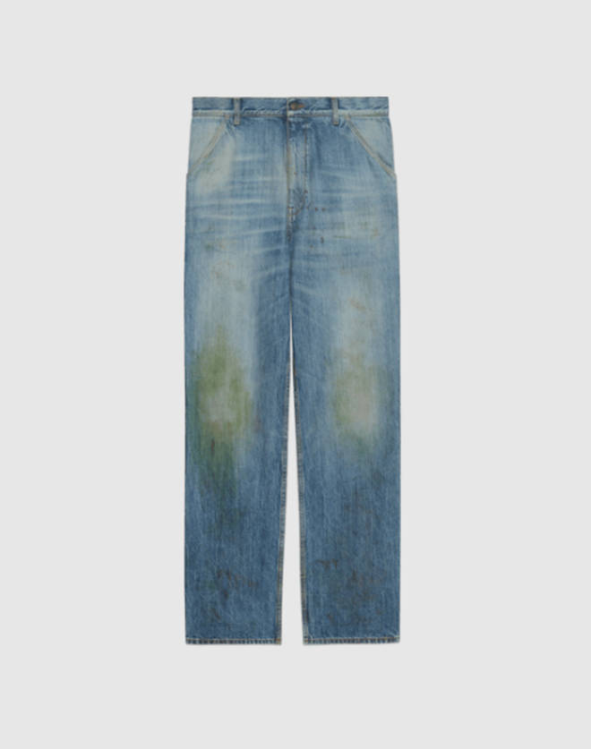 Gucci made headlines earlier this month when they released the 'grass stained' jeans for £600