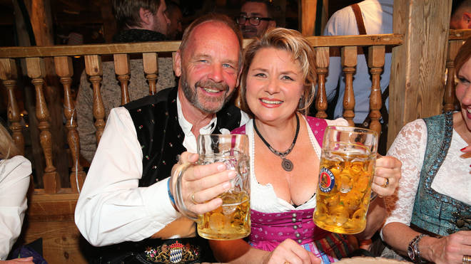 People love to dress in traditional German clothes for Oktoberfest