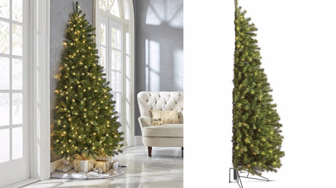 The half Christmas Tree is perfect for making the most of small spaces
