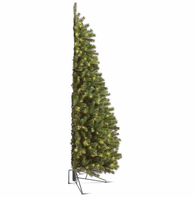The tree, called the Against the Wall Christmas Tree, is available with white or multicolour lights