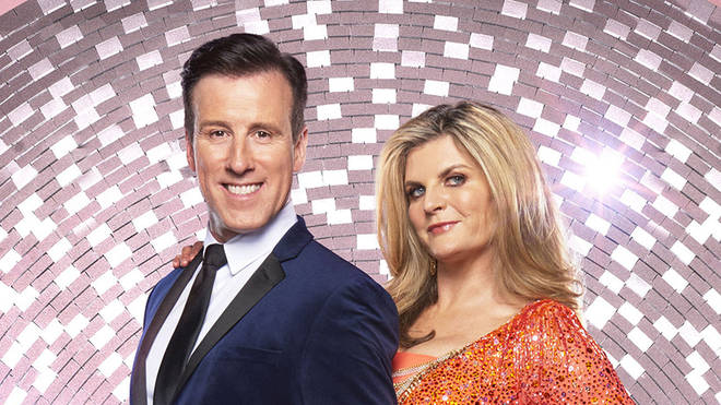 Anton Du Beke and his Strictly dance partner Susannah Constantine