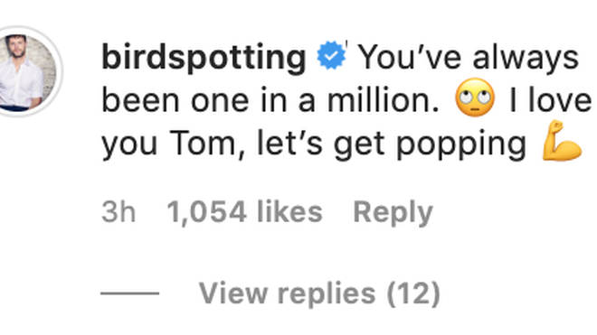 Jay McGuiness commented on Tom's post revealing he had a brain tumour