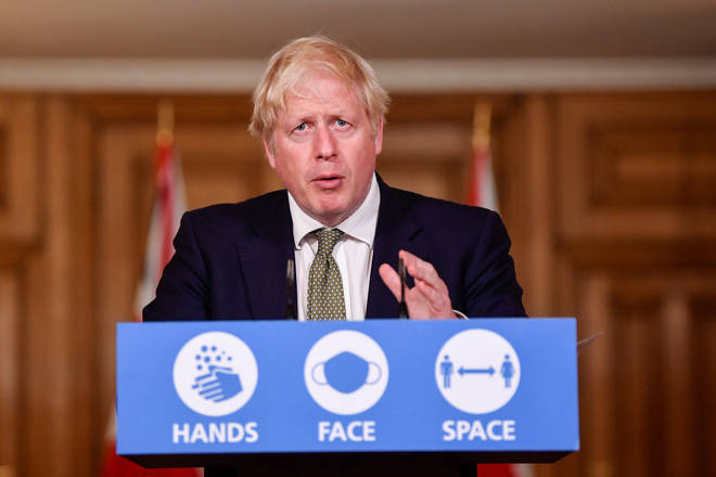 Boris Johnson said pubs would have to serve drinks alongside 'substantial meals'