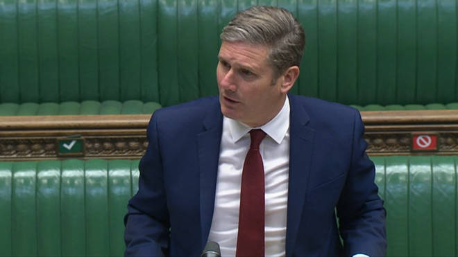 Keir Starmer is also calling for a lockdown in order to stop the increasing spread of COVID