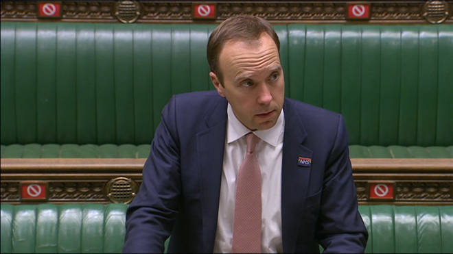 Matt Hancock made a speech in the Commons