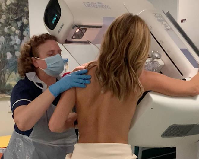 Amanda Holden has shared her mammogram