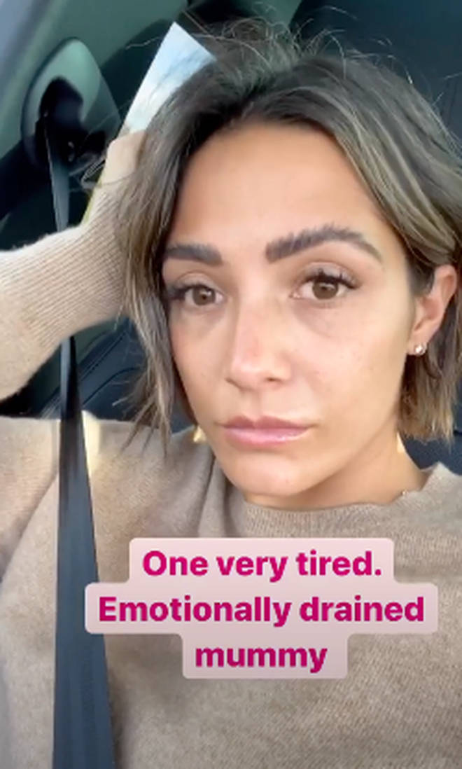 Frankie updated her fans after going to the hospital with Parker