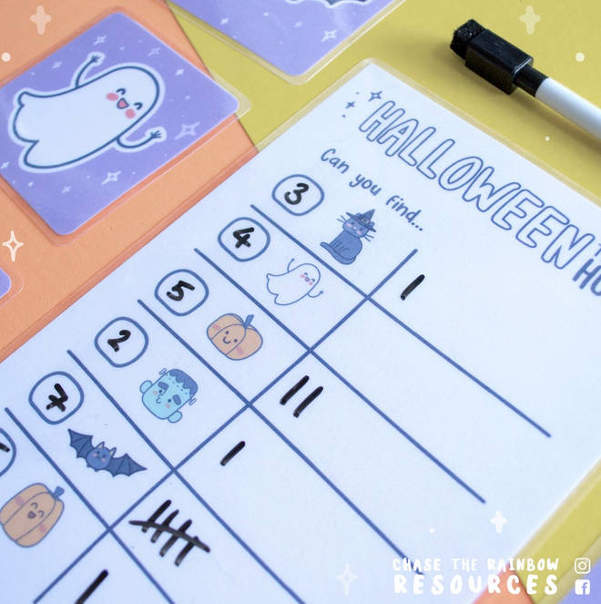 Creator of Chase the Rainbow Resources, Hannah, has created a treasure hunt for your kids this Halloween