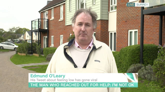Edmund urged other men feeling the same to reach out for help