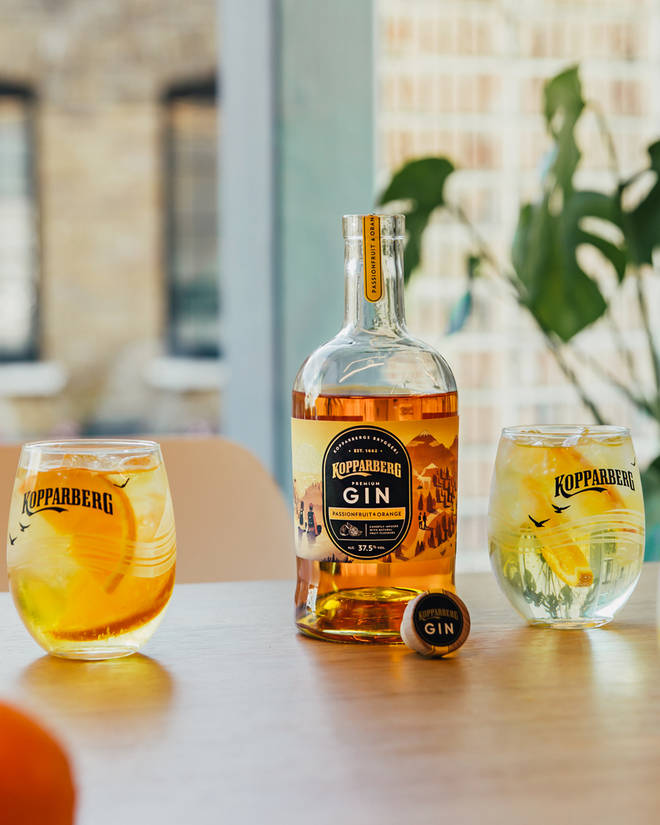 Gin Kopparberg saveur fruit de la passion et orange