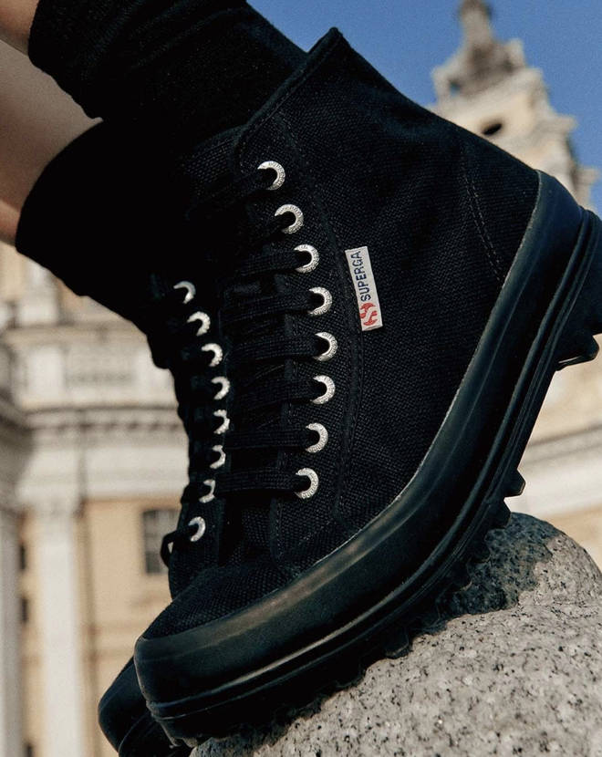 Superga black boots