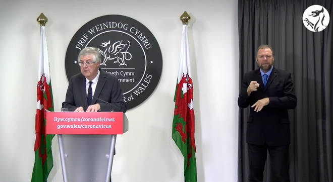 Mark Drakeford announced the news today (19 October)