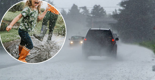 Extreme weather looks set to arrive in the UK (stock images) today