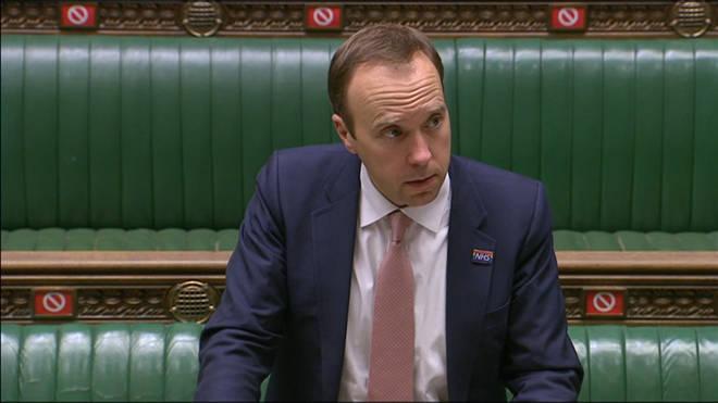 Matt Hancock announced the news in the House of Commons