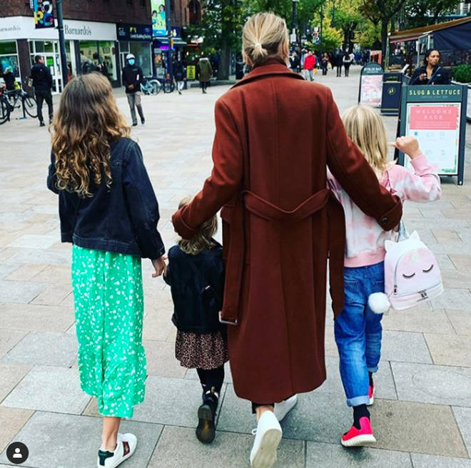 Emma Willis and her three children