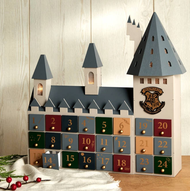 The advent calendar can be stored away and used for many Christmases to come