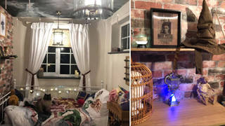 A mum created an incredible Harry Potter-inspired room for her daughter