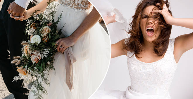 The bride has been slammed on Reddit (stock images)