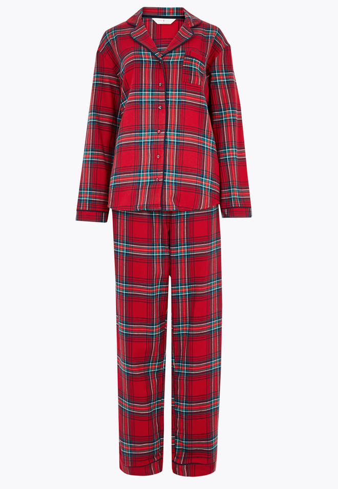 The pyjamas are by Marks & Spencers and cost £25