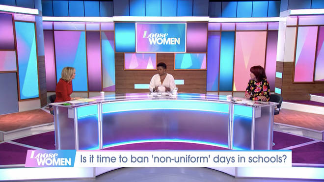 The Loose Women debated non-uniform days on today's show