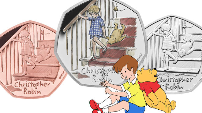 The latest coin in the Winnie the Pooh collection is of Christopher Robin