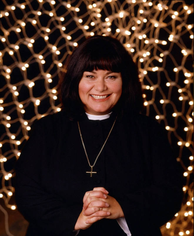 Dawn French plays Vicar Geraldine in the sitcom