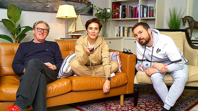 Adrian Dunbar, Vicky McClure and Martin Compston are on Celebrity Gogglebox