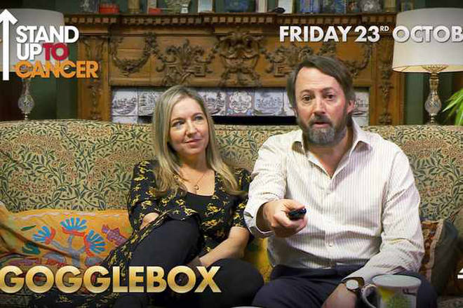 David Mitchell and Victoria Coren Mitchell are on Celebrity Gogglebox