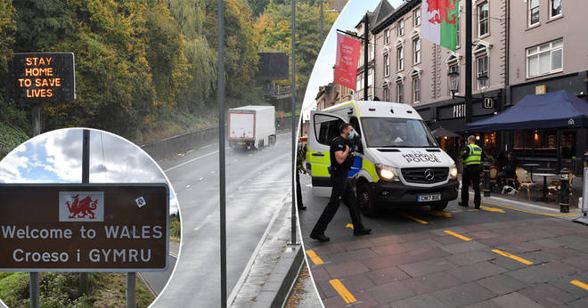 A family from Sussex were escorted out of Wales