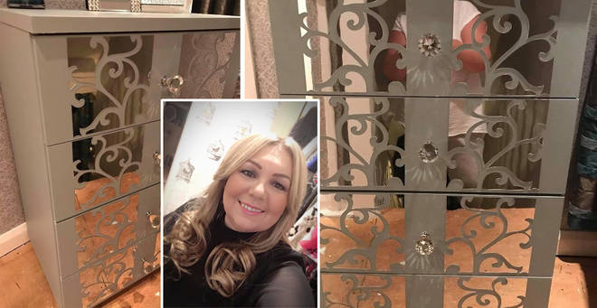 Ellie from Merseyside created her own mirrored furniture